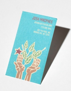 Josh Macphee (business card)